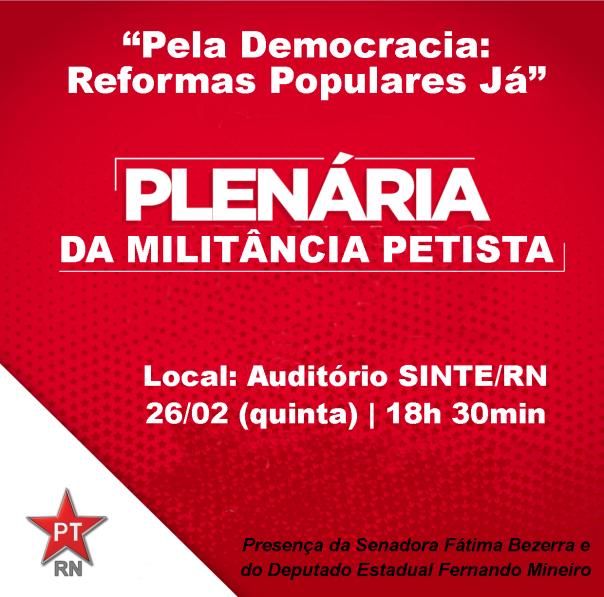 convite plenária